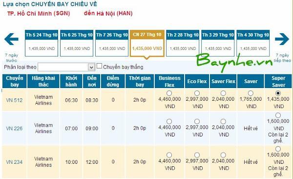 Cách đặt vé máy bay vietnam airlines