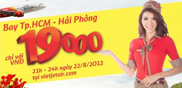 Hôm nay săn vé máy bay Hải Phòng – TP Hồ Chí Minh giá siêu rẻ