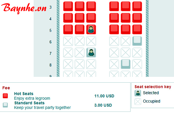 Không nhất thiết phải đặt chỗ ngồi khi book vé máy bay qua mạng?