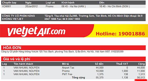 vé máy bay Hải Phòng - TP Hồ Chí Minh