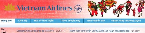 đặt vé máy bay vietnam airlines - đặt vé Vietnam Airlines