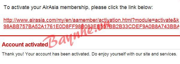 đăng ký thành viên đặt vé airasia