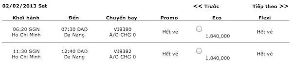 Vé máy bay tết 2013 của VietJetAir đã có và… sắp hết