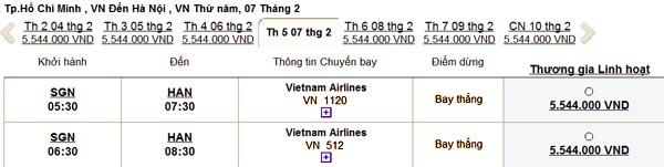 Vé máy bay tết 2013 của Vietnam Airlines đã có