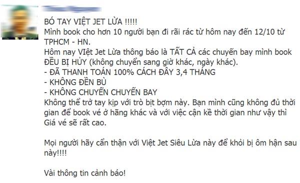 Khách hàng nổi giận vì VietJetAir hoãn, huỷ chuyến