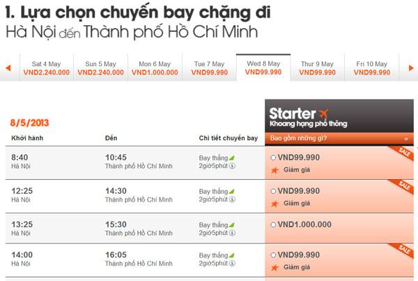 vé máy bay giá rẻ jetstar 99.000 đồng - Jetstar lại tung vé