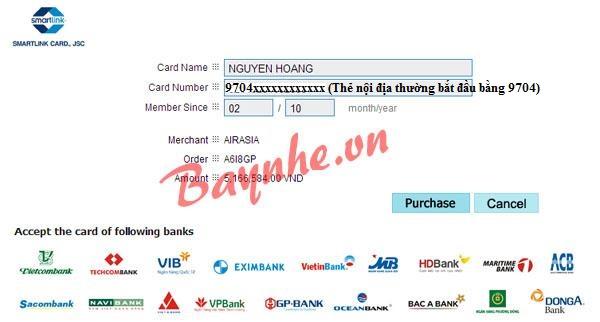thanh-toan-smartlink2 Kinh nghiệm giữ chỗ vé máy bay AirAsia