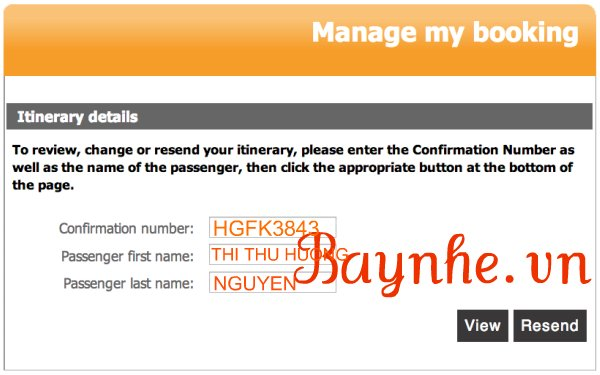 Hướng dẫn cách kiểm tra vé máy bay