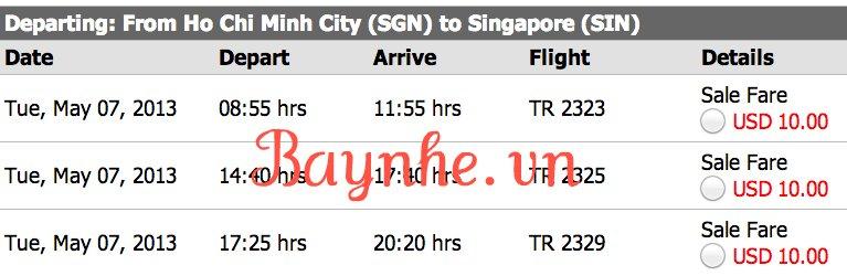 vé máy bay giá rẻ đi singapore của tiger