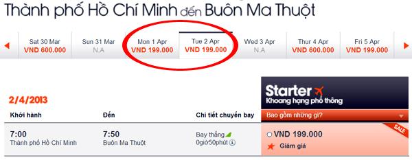 vé máy bay giá rẻ 199.000 đồng