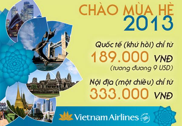 vé máy bay giá rẻ 333.000 của vietnam arlines
