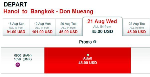 vé máy bay giá rẻ airasia - vé rẻ đi Bangkok