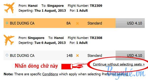 Hướng dẫn đặt vé máy bay Tiger Airways