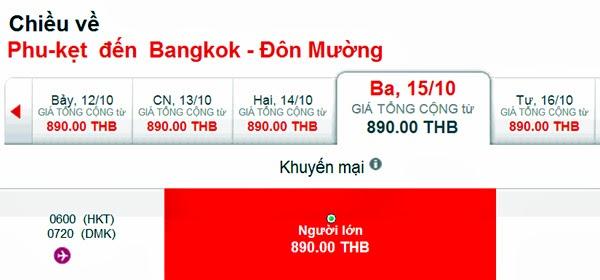 vé máy bay giá rẻ phuket - AirAsia bán vé rẻ