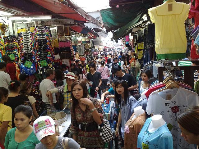 khu pratunam ở bangkok