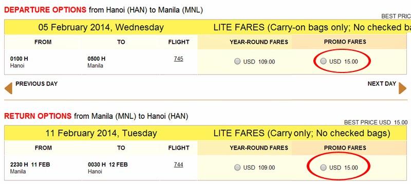 vé máy bay giá rẻ cebu pacific vé khuyến mãi