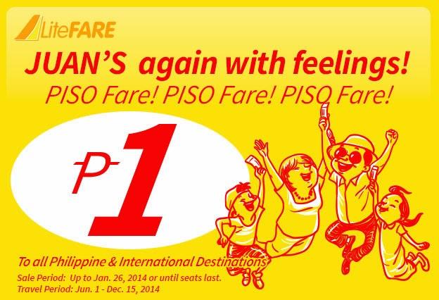 Cebu bán vé siêu rẻ 1 peso nửa cuối năm 2014