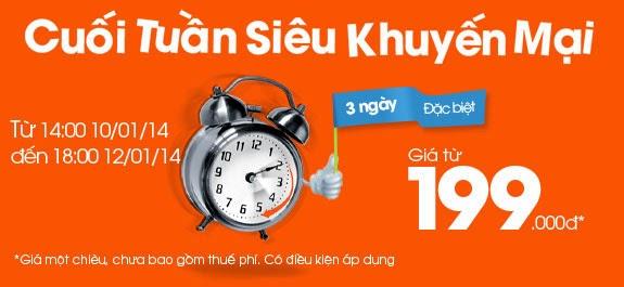 Vé máy bay Hà Nội – Sài Gòn giá 199.000 đồng