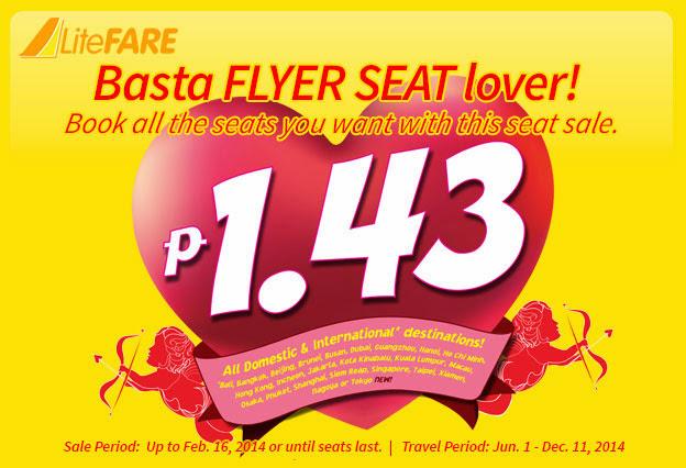 vé máy bay giá rẻ Cebu Pacific vé siêu rẻ 1,43 peso