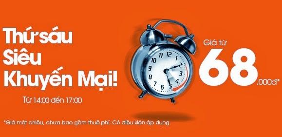 Bay Sài Gòn - Hà Nội với vé giá rẻ 68.000 đồng của Jetstar