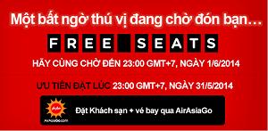 AirAsia bán vé siêu rẻ Free Seat (đợt 2-2014)