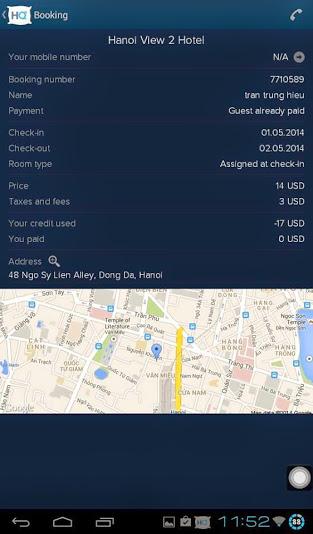ứng dụng khách sạn HotelQuickly