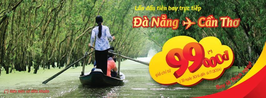 VietJetAir tung 2.500 vé máy bay giá rẻ Đà Nẵng - Cần Thơ