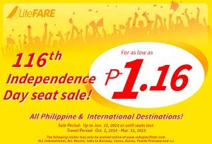 Cebu bán vé siêu rẻ 1,16 peso cuối 2014 đầu 2015