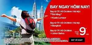 Vé rẻ của AirAsia cho Sài Gòn, Đà Nẵng và Hà Nội