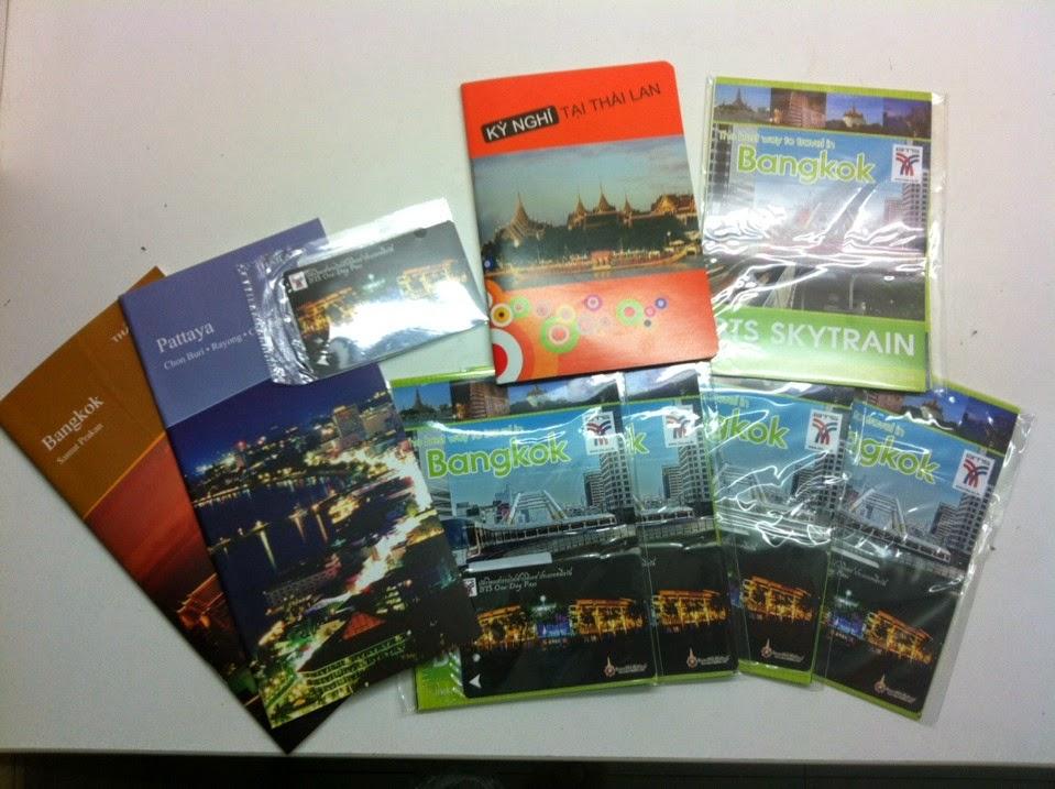 tặng ban thẻ đi tàu điện BTS Bangkok