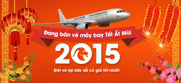 Jetstar bán vé máy bay Tết Ất Mùi 2015