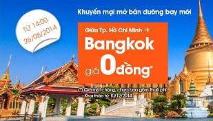 Jetstar bán vé đi Bangkok giá 0 đồng