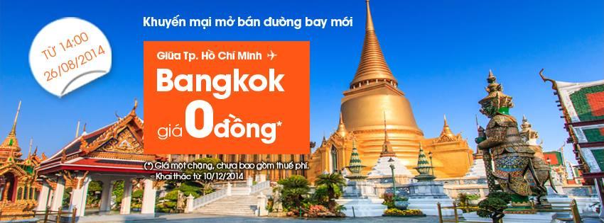 Jetstar 0 dong Bangkok Jetstar bán vé đi Bangkok giá 0 đồng