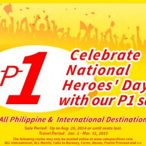 Cebu bán tiếp vé 1 peso đầu năm 2015 nhé
