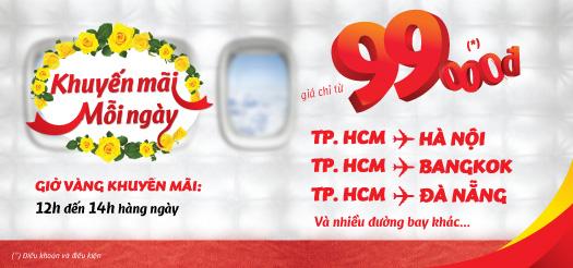 VietJetAir tung vé rẻ mỗi ngày giá chỉ từ 9.000 đồng