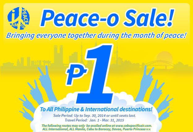 Cebu bán vé siêu rẻ 1 peso xuân 2015