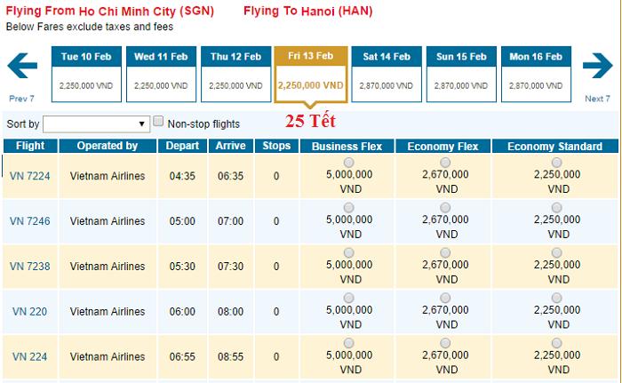 Vietnam Airlines tung vé Tết giá cực tốt