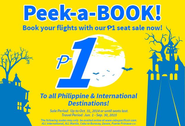 Vé 1 peso của Cebu Pacific (bay hè 2015)