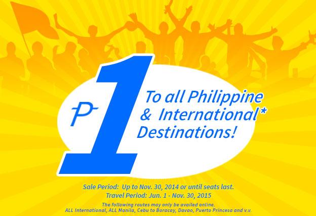 Cebu bán vé máy bay siêu rẻ 1 peso bay khắp nơi