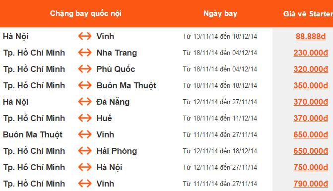 Vé Vinh, Bangkok giá cực rẻ 88k, Nha Trang 230k, Phú Quốc 320k