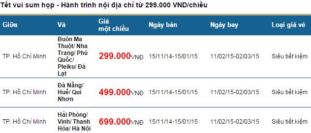 Vietnam Airlines bán vé rẻ sum họp tết (hơi khó nha!)