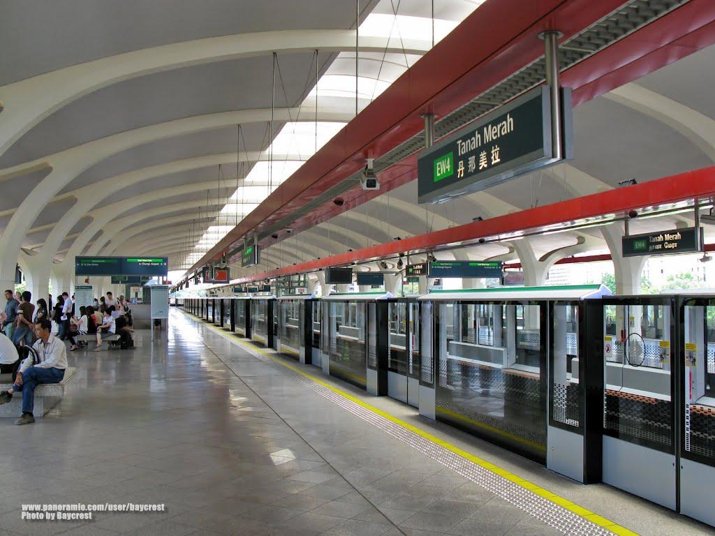Cách đi tàu điện từ sân bay Changi vào Singapore