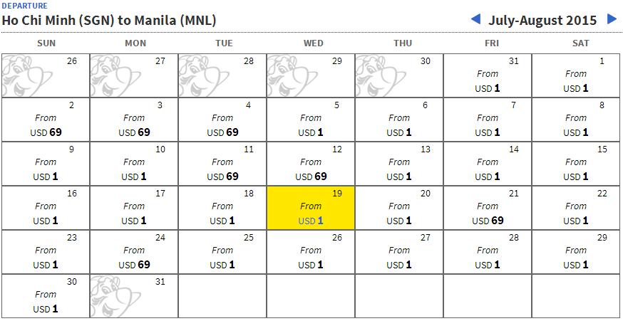 Cebu đang bán vé máy bay giá siêu rẻ 1 peso