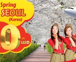 VietJetAir bán vé 0 đồng đi Hàn Quốc