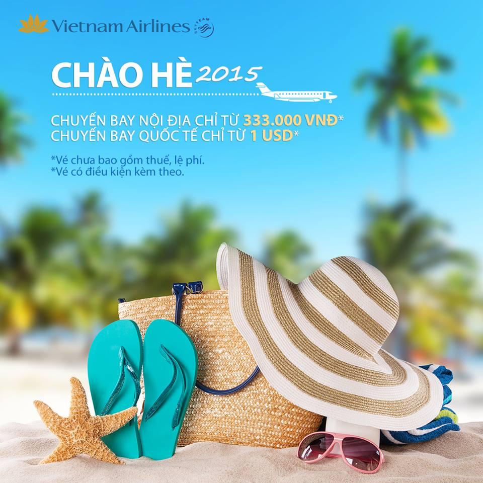 Vé siêu rẻ chào hè 2015 của Vietnam Airlines