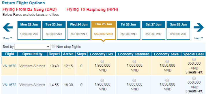Vé tiết kiệm dịp hè 2015 của Vietnam Airlines