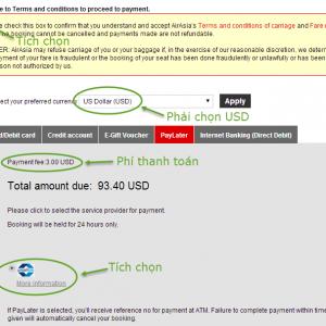 Hướng dẫn giữ vé AirAsia và thanh toán trong 24h (dùng link booking2)