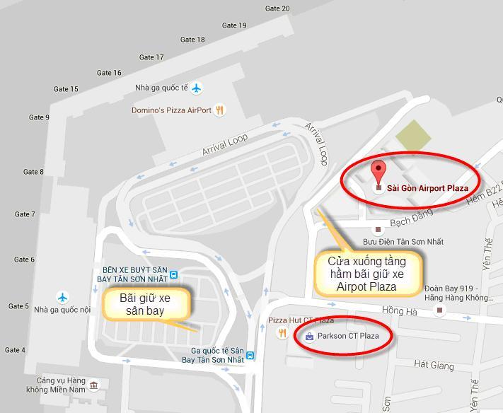 Gởi xe gắn máy qua đêm ở sân bay Tân Sơn Nhất