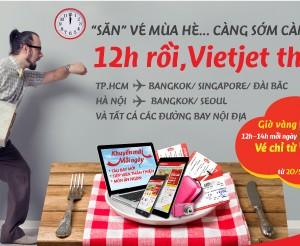 VietJetAir bán vé 0 đồng vào 12h trưa (20-6, bán 6 chặng)