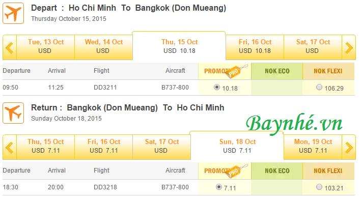 NokAir mo ban Nok Air mở bán vé siêu rẻ bay Bangkok tháng 10